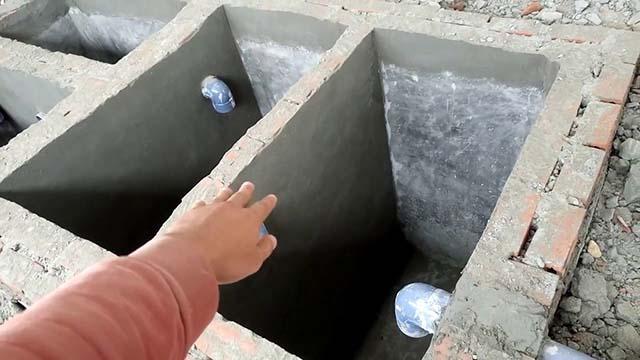 Xây dựng bể phốt 3 ngăn