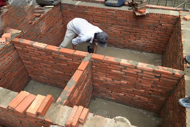 Xây dựng bể phốt 3 ngăn bằng gạch nung
