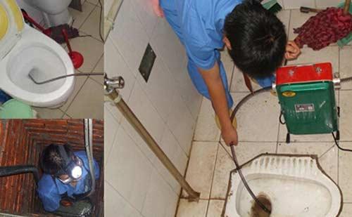 xử lý cống thoát nước bị tắc